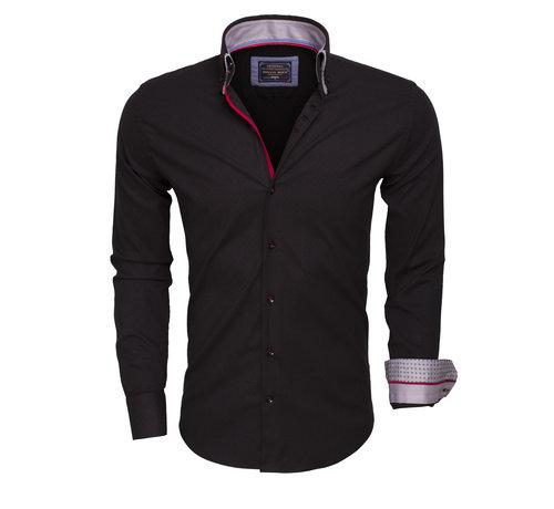 Arya Boy Overhemd Lange Mouw  85258 Black