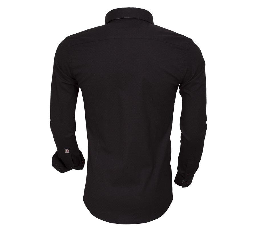 Overhemd Lange Mouw  85258 Black