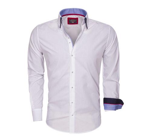 Wam Denim Overhemd Lange Mouw  85272 White
