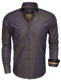 Wam Denim Shirt Langs Leeve  75366 Dark Navy