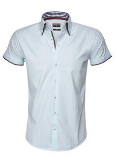 Wam Denim Shirt Langs Leeve 75481 Light Turquoise
