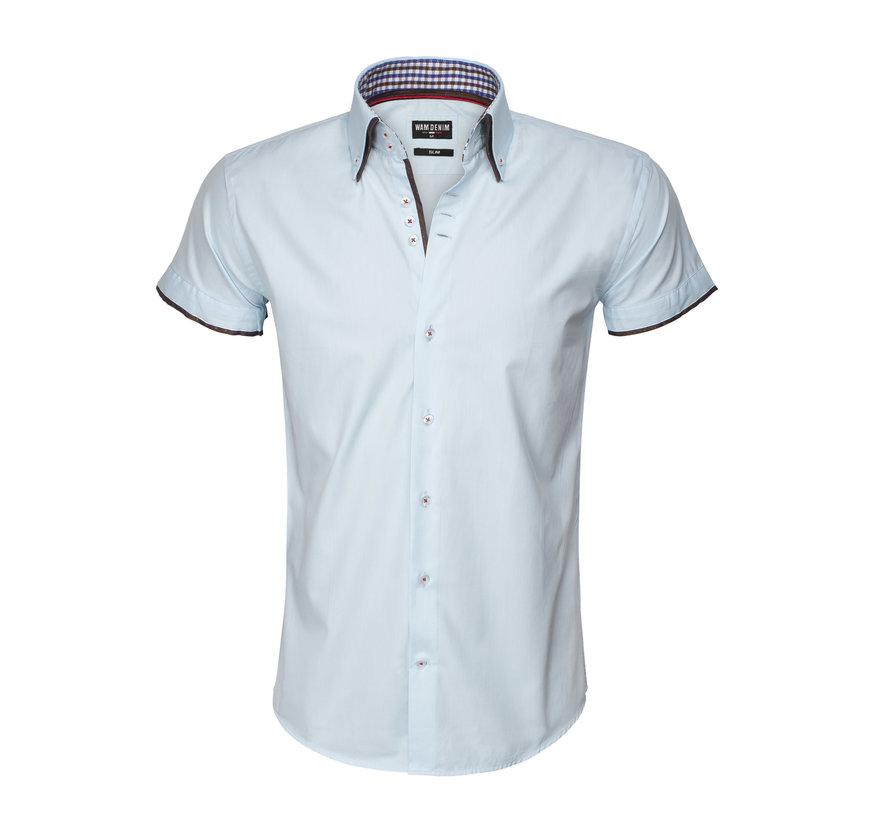 Shirt Langs Leeve 75481 Light Turquoise