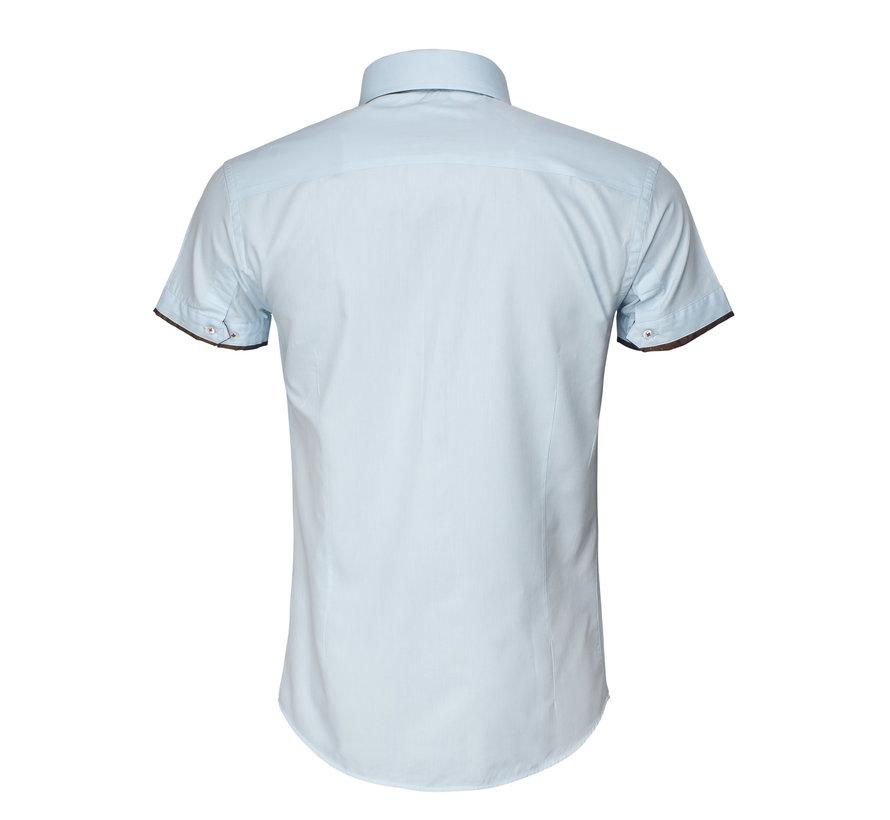 Overhemd Lange Mouw  75481 Light Turquoise
