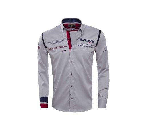 Wam Denim Shirt Langs Leeve 75165 Gray