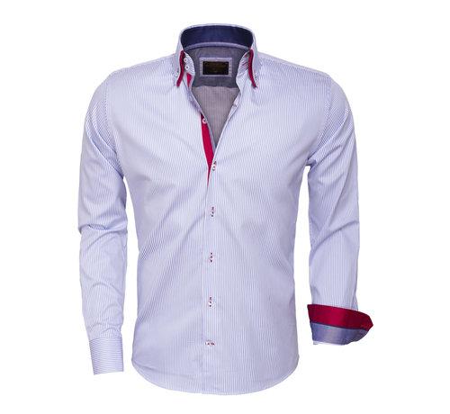 Wam Denim Overhemd  Lange Mouw 75395 Blue