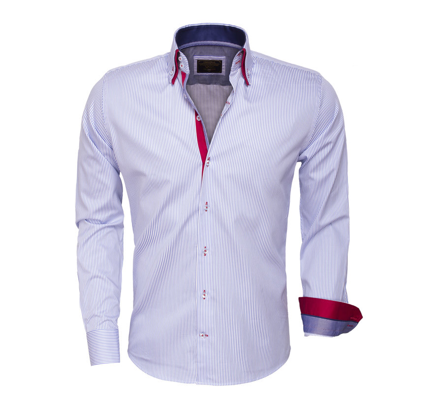 Overhemd  Lange Mouw 75395 Blue