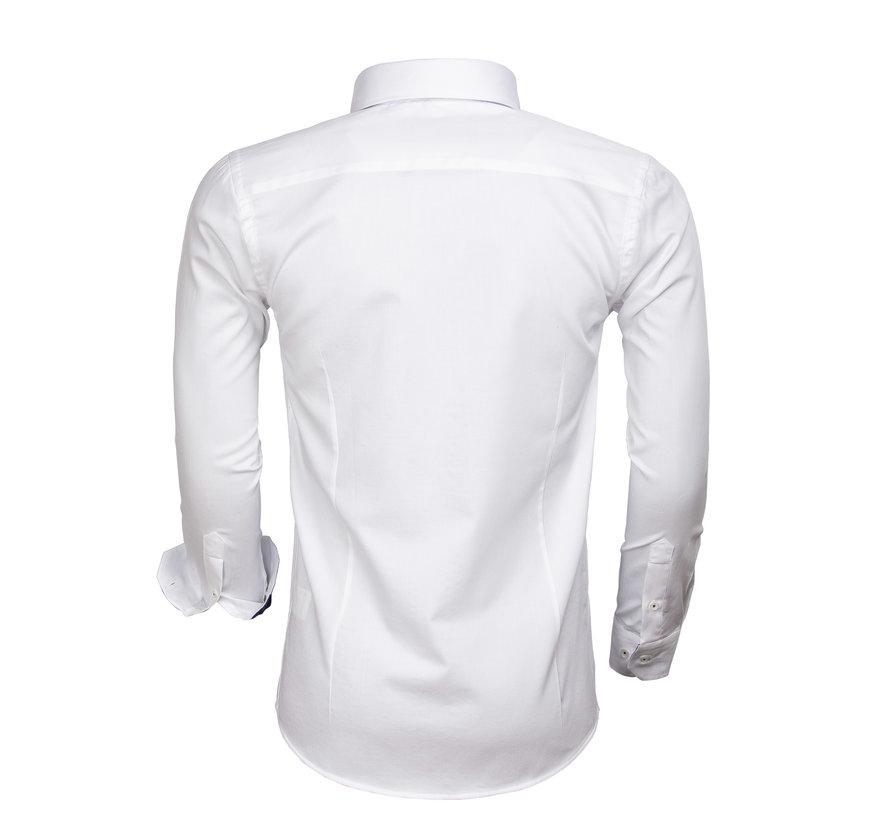 Overhemd  Lange Mouw 65004 White