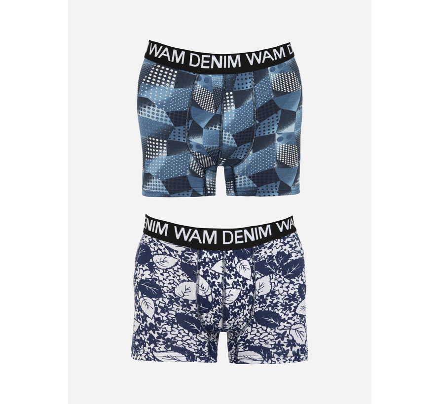 Boxer Mabou Navy Petrol 2Pack