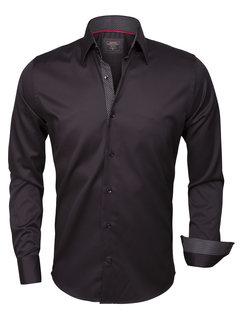 Wam Denim Overhemd Lange Mouw 75347 Black