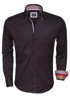 Wam Denim Overhemd Lange Mouw  75380 black