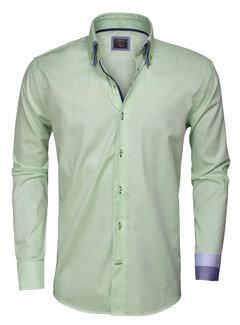 Wam Denim Overhemd Lange Mouw  Light Green 75262
