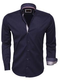 Wam Denim Overhemd  Lange Mouw 75223 Navy