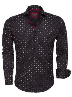 Wam Denim Overhemd  Lange Mouw 75377 Black
