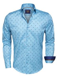 Wam Denim Overhemd  Lange Mouw 75366 Turquoise