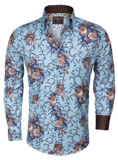 Wam Denim Overhemd  Lange Mouw 75274 Turquoise