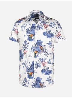 Arya Boy Shirt Short Sleeve Horta White Blue