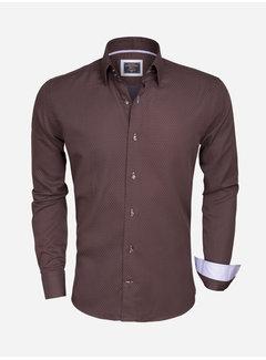 Wam Denim Shirt Long Sleeve  75356 Brown