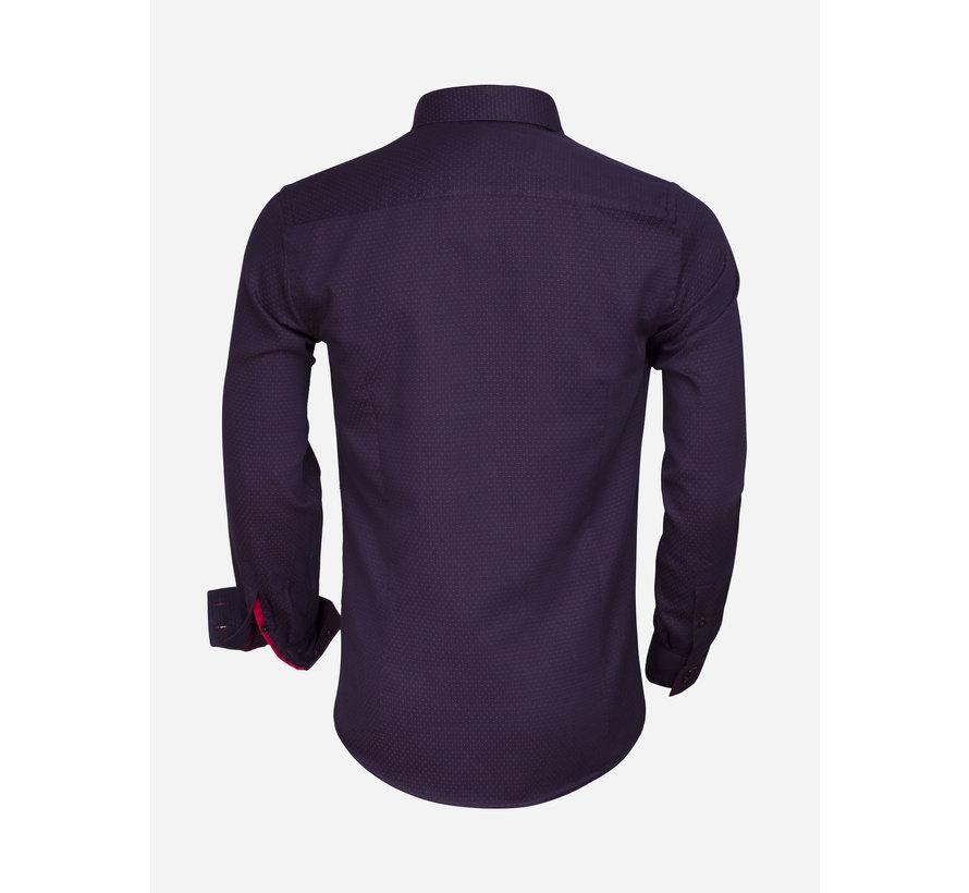 Overhemd Lange Mouw 75356 Navy