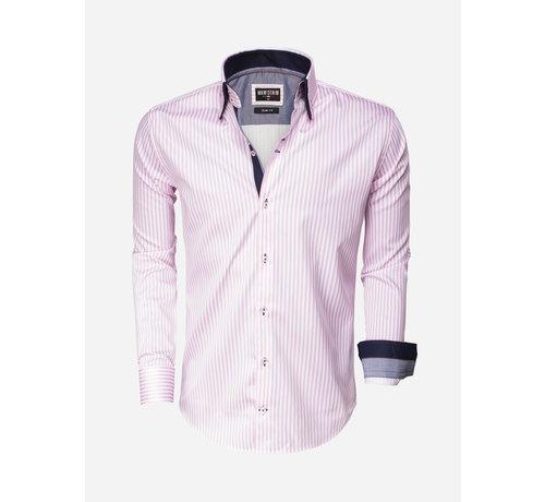 Wam Denim Overhemd Lange Mouw 75395 Pink