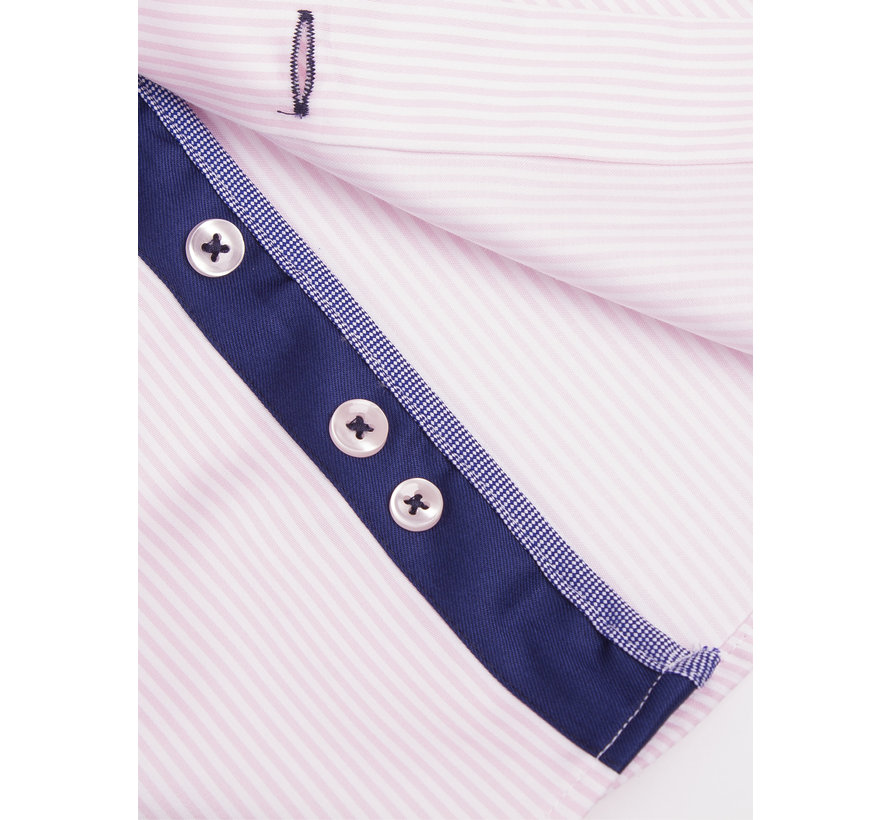 Overhemd Lange Mouw 75395 Pink