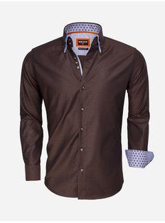 Wam Denim Overhemd Lange Mouw 75500 Brown