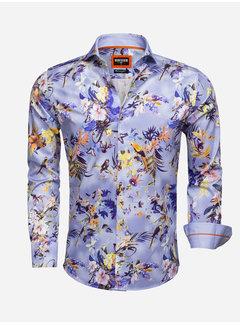Wam Denim Overhemd Lange Mouw 75520 Blue