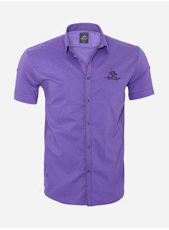 Arya Boy Overhemd Korte Mouw 18Y8524 Fuchsia