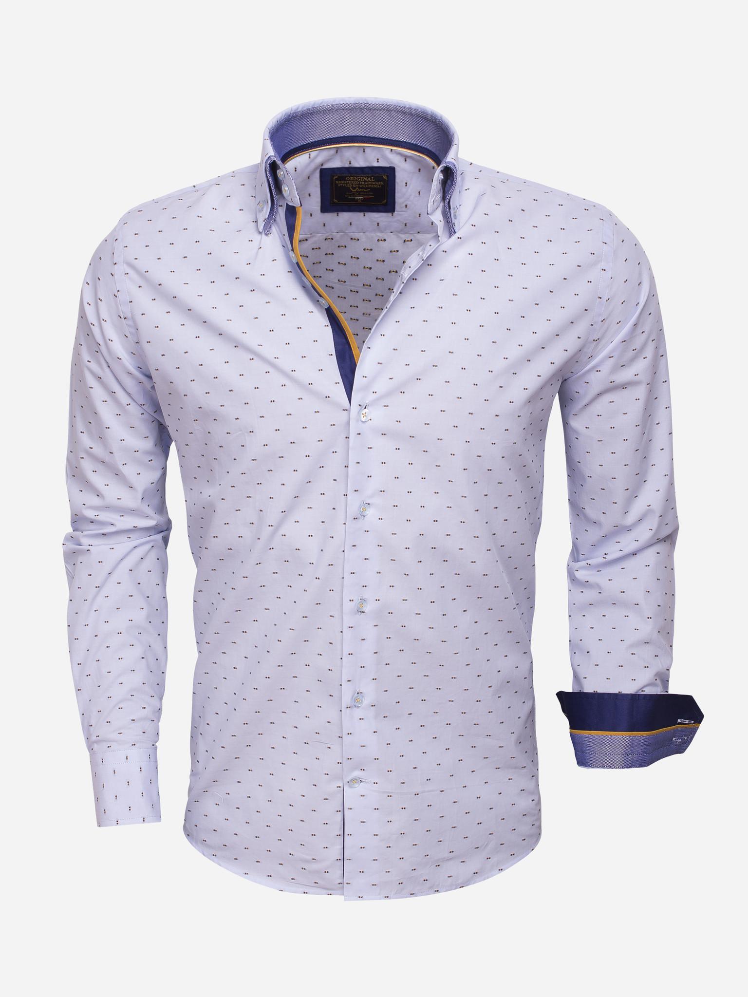 Wam Denim Overhemd Lange Mouw  Maat: XL