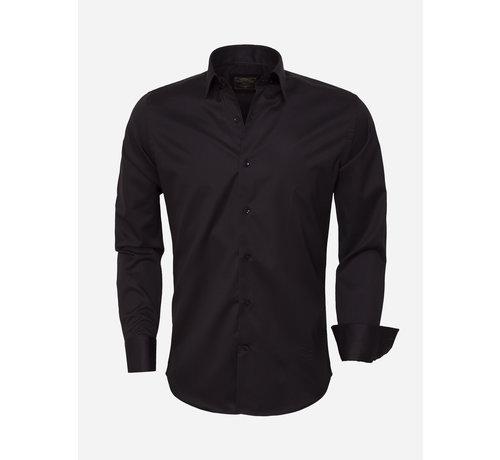Wam Denim Overhemd Lange Mouw  75420 Black