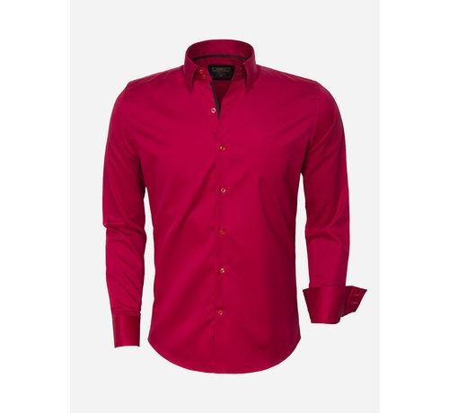 Wam Denim Overhemd Lange Mouw 75420 Red