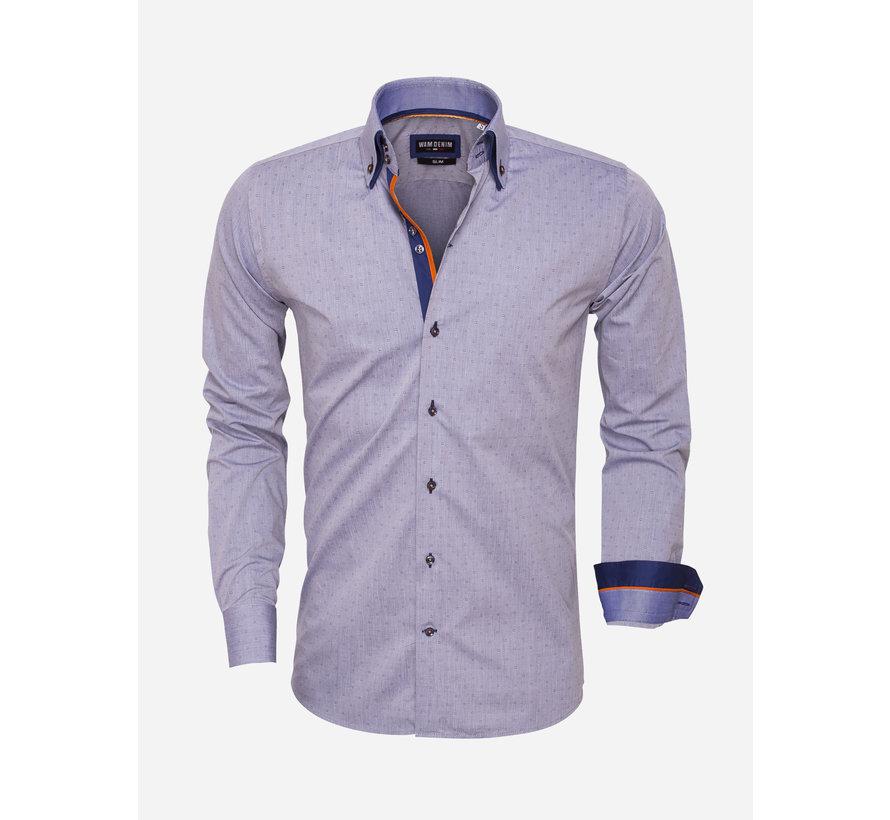 Overhemd Lange Mouw 75451 Navy