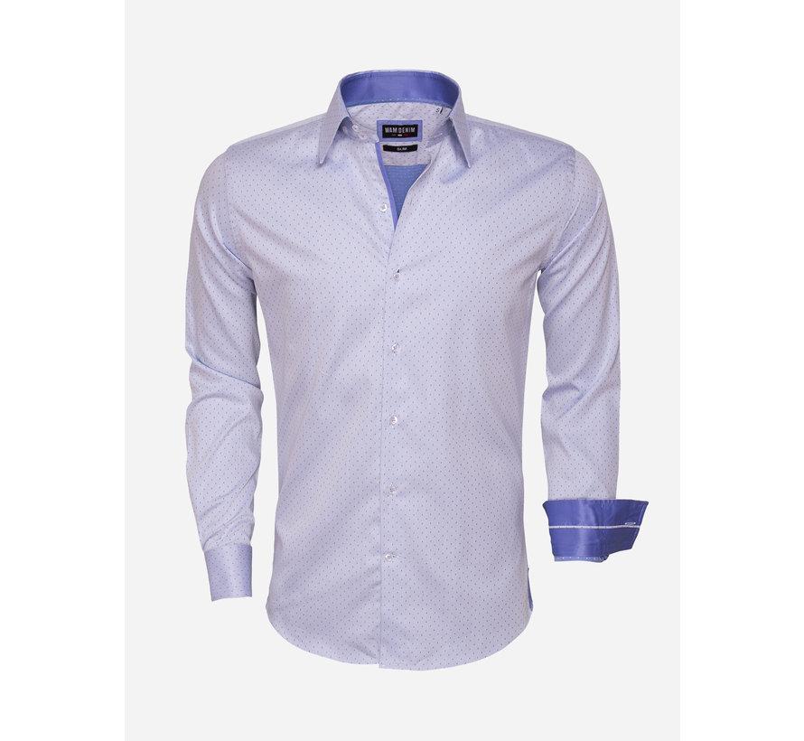 Shirt Langs Leeve 75454 Blue
