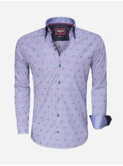 Wam Denim Overhemd Lange Mouw  75489 Light Navy