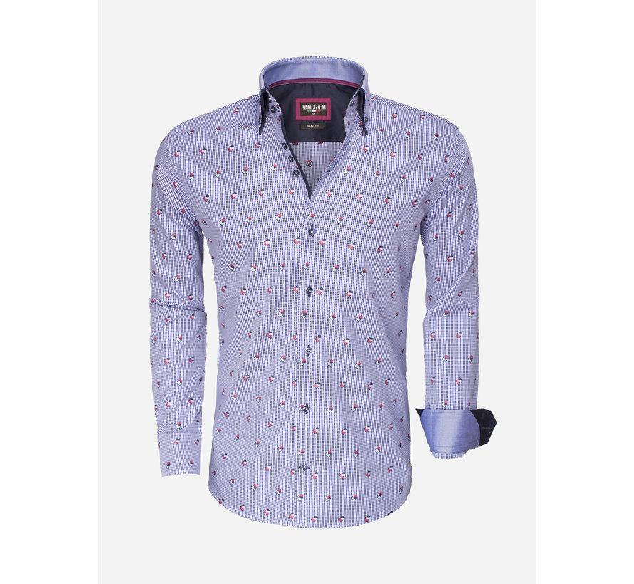Overhemd Lange Mouw  75489 Light Navy