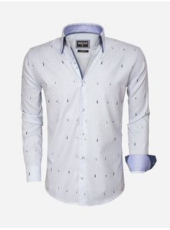 Wam Denim Overhemd Lange Mouw 75492 Light Blue