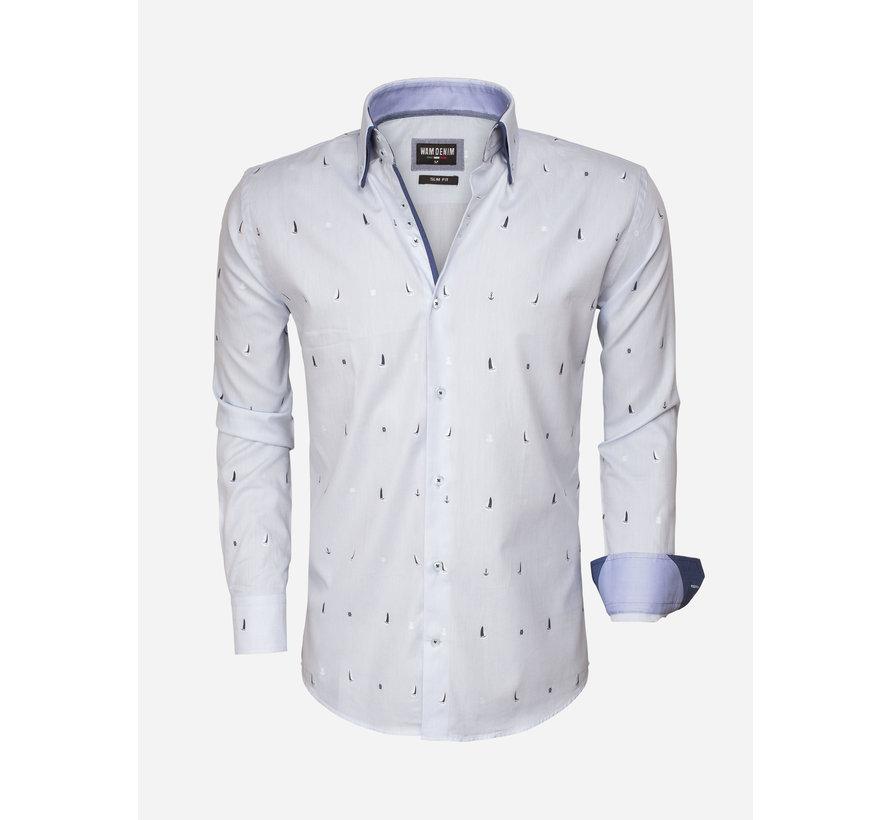 Overhemd Lange Mouw 75492 Light Blue