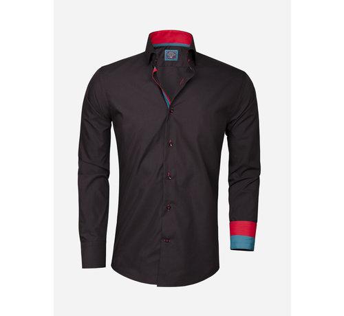 Arya Boy Overhemd Lange Mouw 85209 Black
