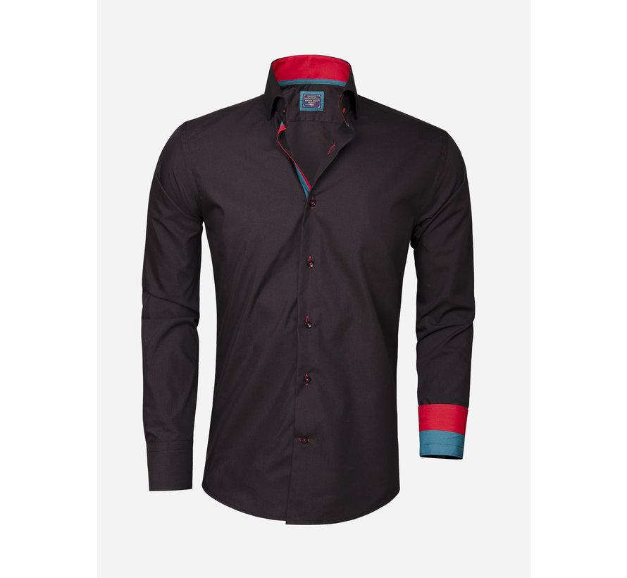 Overhemd Lange Mouw 85209 Black