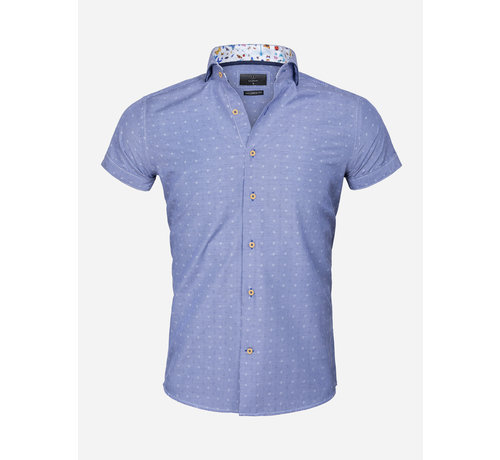 Gaznawi Shirt Langs Leeve 75395 65037 Royal Blue