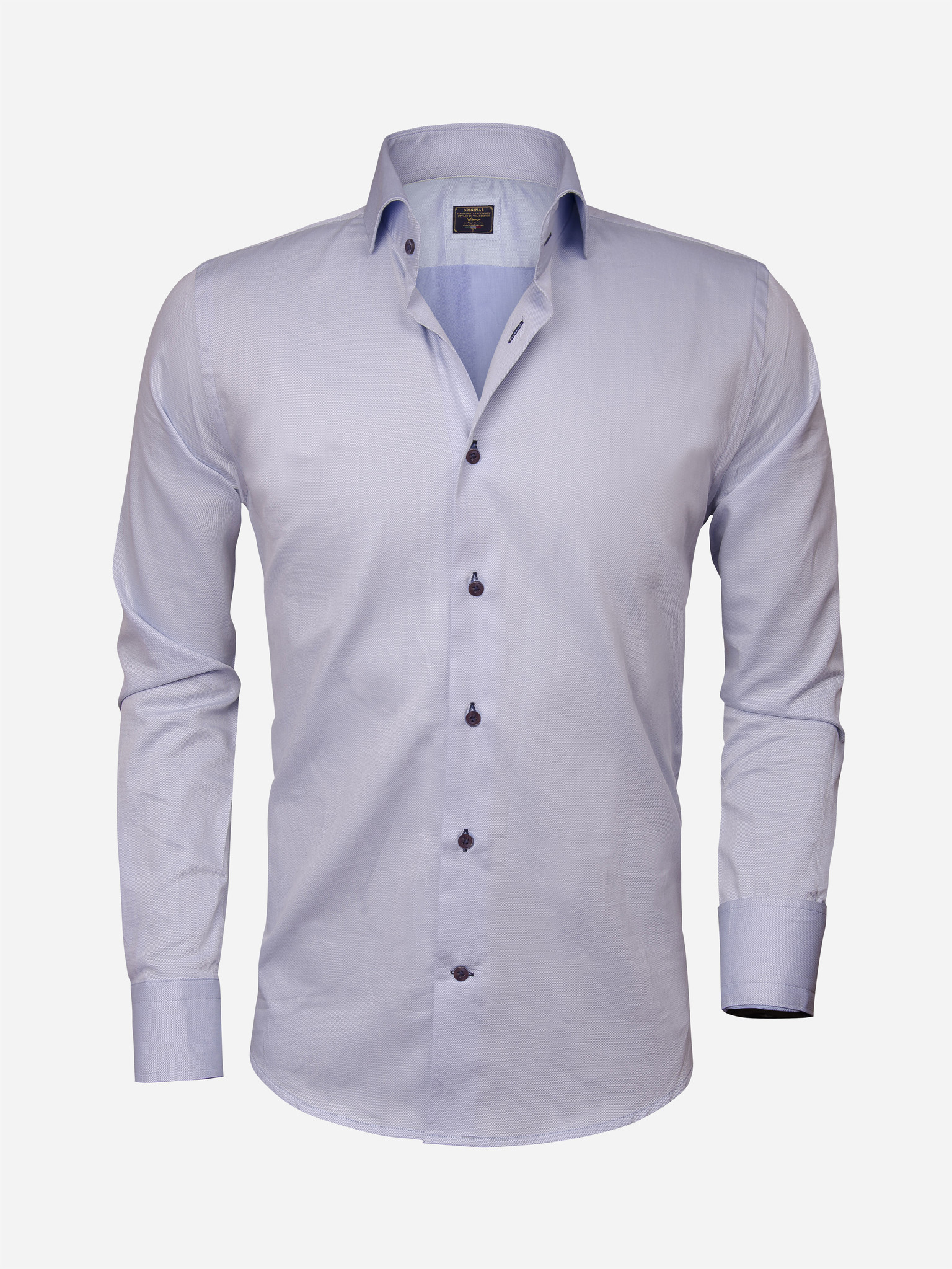 Wam Denim Overhemd Lange Mouw  Maat: L
