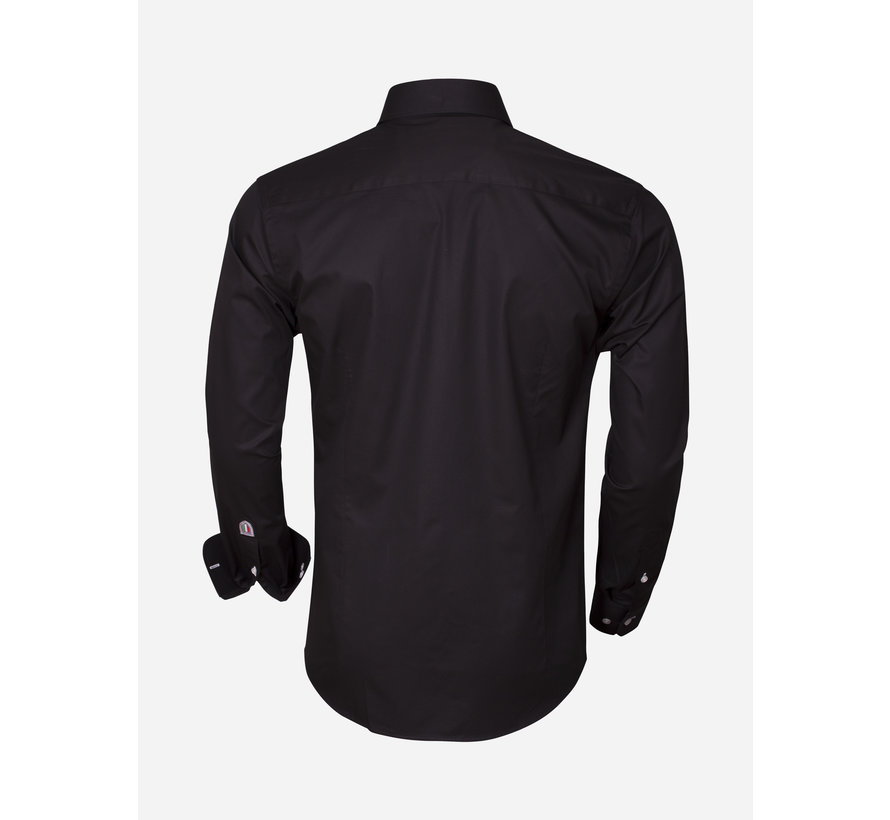 Overhemd Lange Mouw 75290 Black