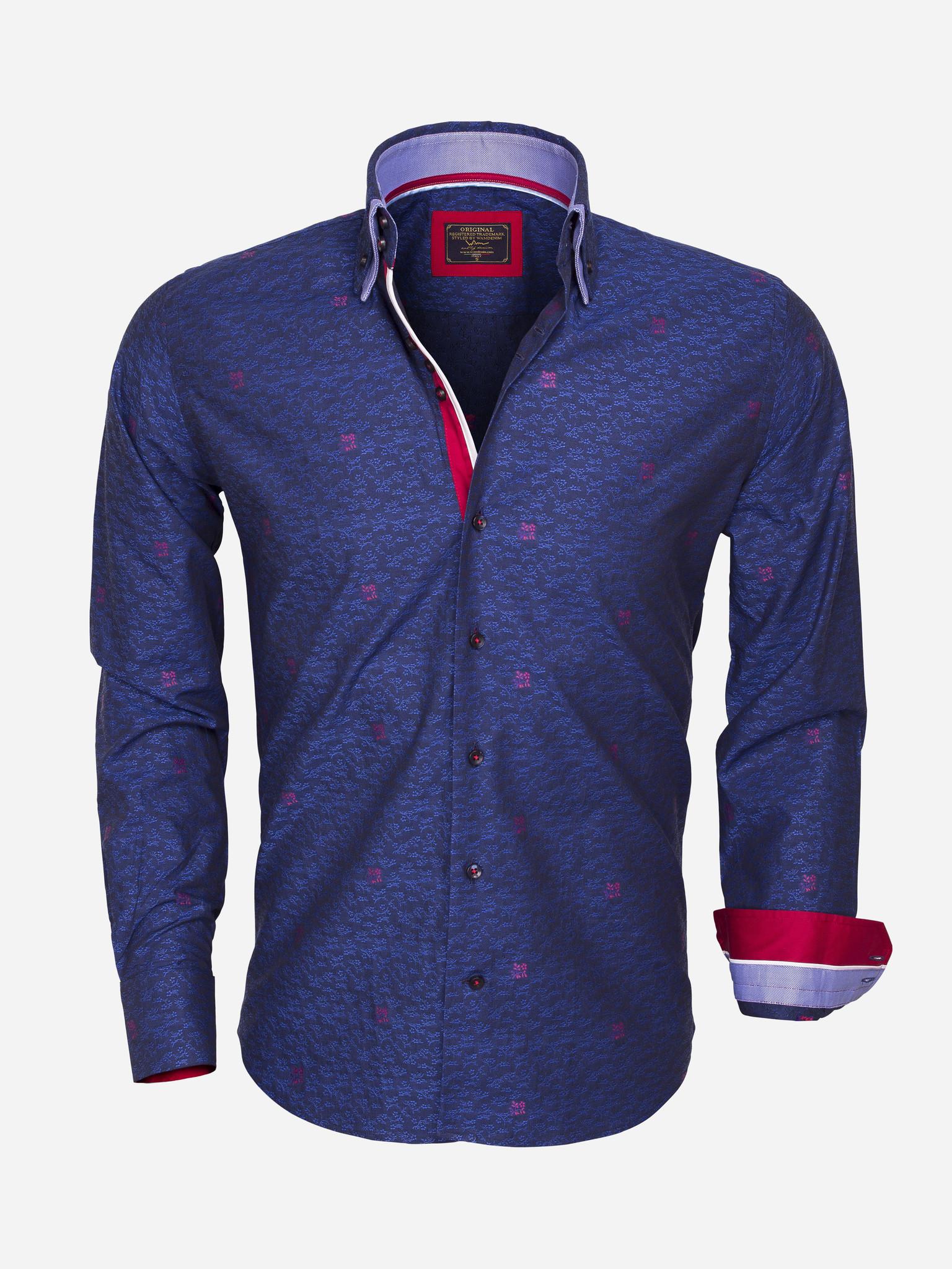 Wam Denim Overhemd Lange Mouw  Maat: M