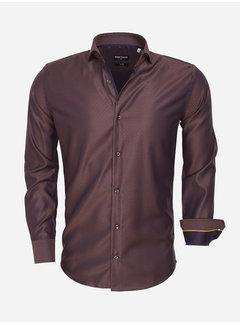 Wam Denim Shirt Langs Leeve 75466 Brown