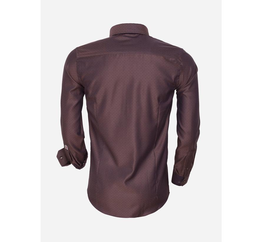 Shirt Langs Leeve 75466 Brown