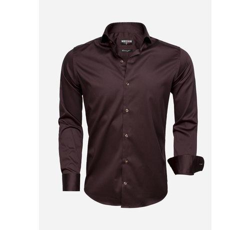 Wam Denim Shirt Langs Leeve 75493 Dark Brown
