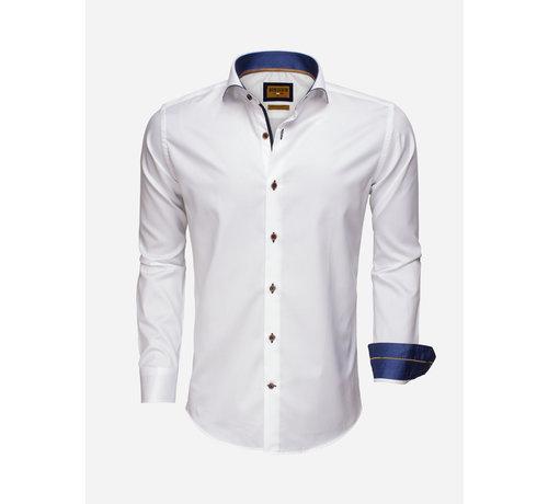 Wam Denim Overhemd  Lange Mouw 75508 White