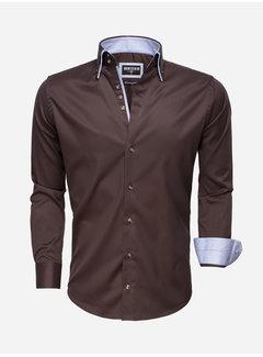 Wam Denim Shirt Long Sleeve 75514 Brown