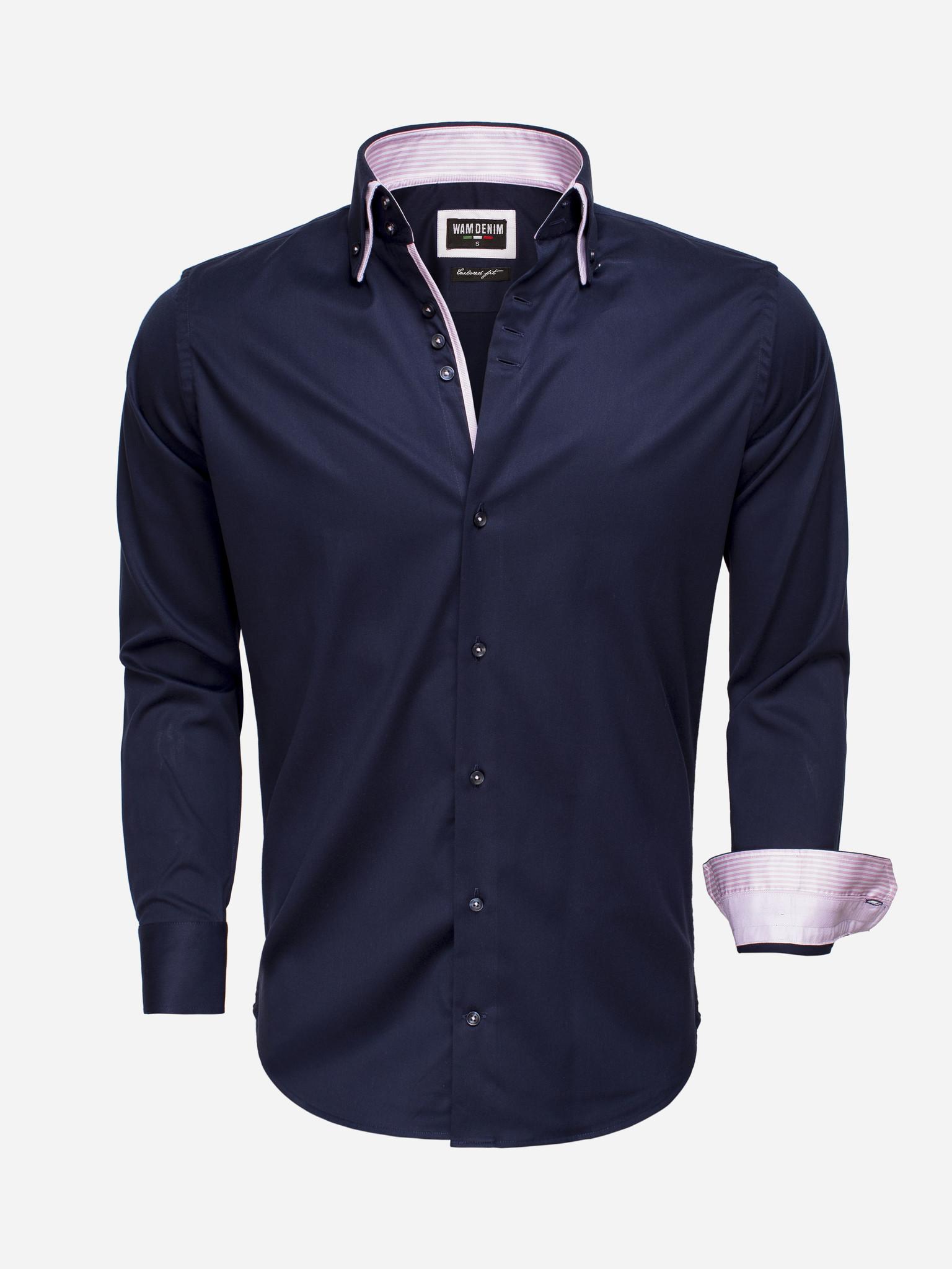 Wam Denim Overhemd Lange Mouw  Maat: S
