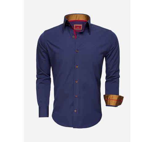 Wam Denim Overhemd Lange Mouw 75516 Dark Navy