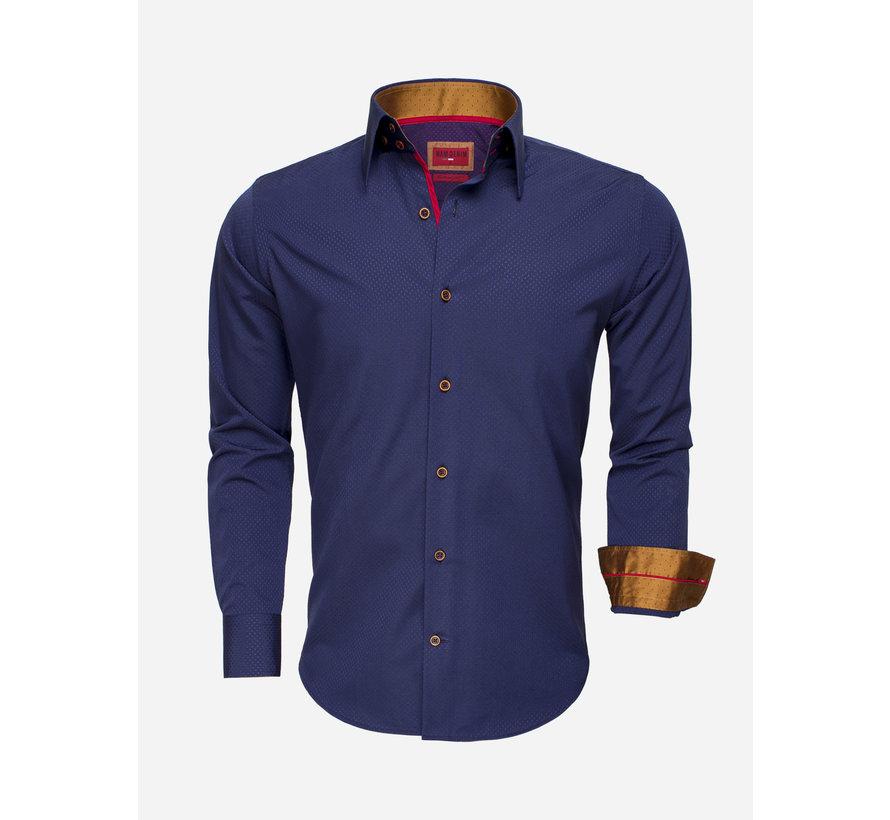 Overhemd Lange Mouw 75516 Dark Navy